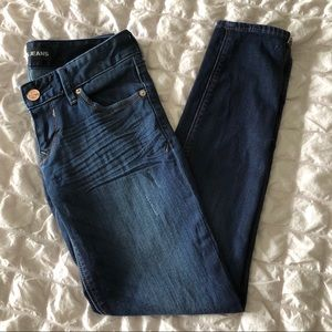 Express Low Rise Ankle Zip Jeans